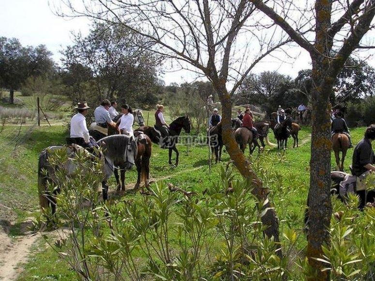 Paseo a caballo por la frontera con Portugal