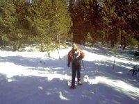 walking through the snow