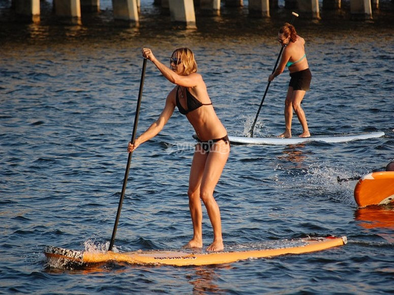 划桨冲浪女孩