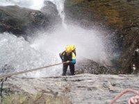 Lowering the waters of the waterfall