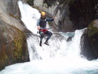 Jumping over the waters of the river