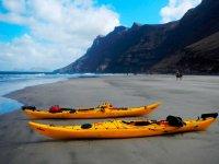 Los kayaks listos