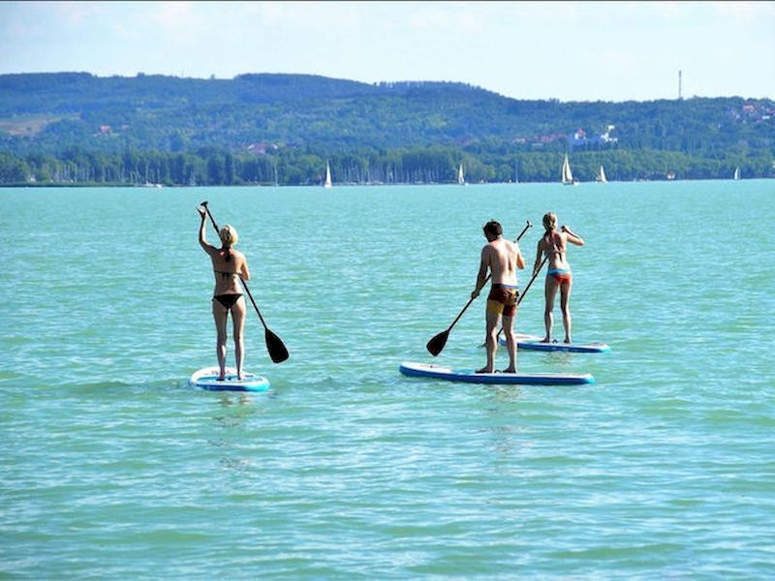 Paddle surf en el embalse de Borbolló