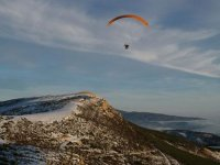 Paraglider flight