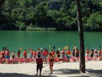 Instrucciones sobre kayak al pie del rio