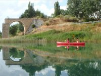 Llegando al arco en la ribera