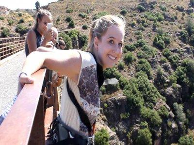 Puenting desde 50 metros en Albentosa, Teruel