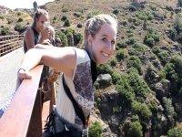 Justo antes de salta en Albentosa desde 55 metros