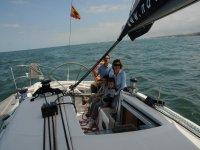 Ibon e Gorka a bordo