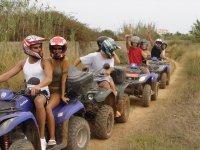 Todos montados en los quads