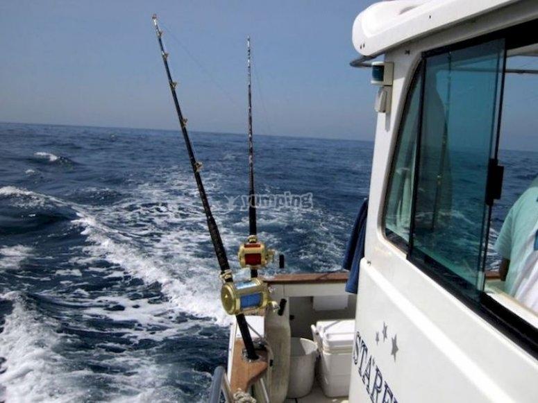 Pesca en chárter frente a Ceuta