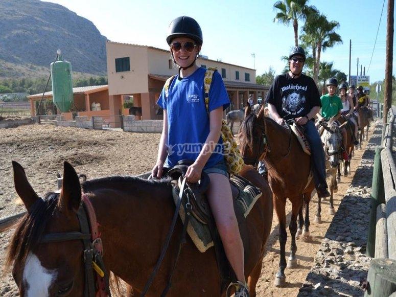 Leaving Alcudia's riding club