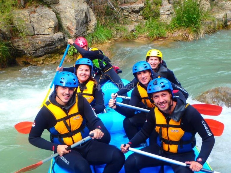 A bordo del raft