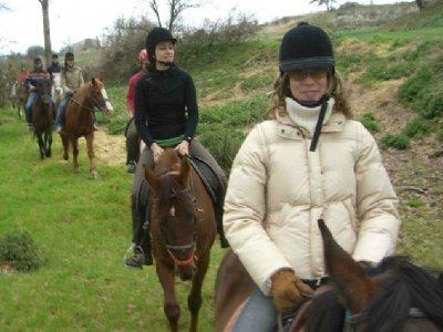 Ruta a caballo y alojamiento, para 2, San Valentín
