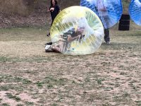 Bubble football among colleagues