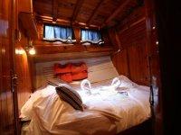 El interior de la embarcacion