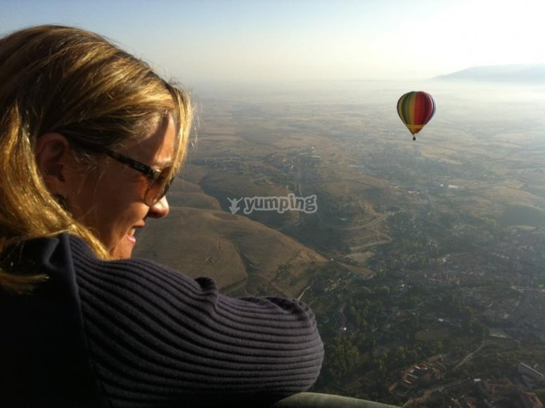 Sights from the balloon