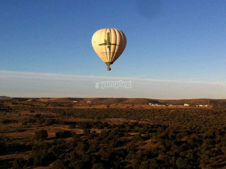 Balloon flight through Guadarrama