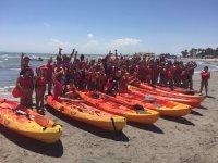 Excursion en kayak para los alumnos