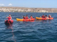 Touring Santa Pola in kayak