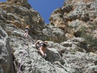 Due scalatori nel Chorro