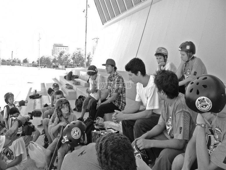 Skate camp in Barcelona