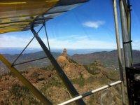Views of Roque Nublo with a plane flight
