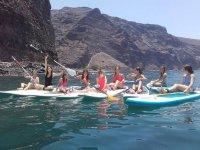 Divertida ruta de puddle Surf en la Gomera
