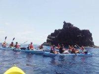 Salida en kayak por las canarias
