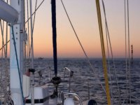 in the sailboat