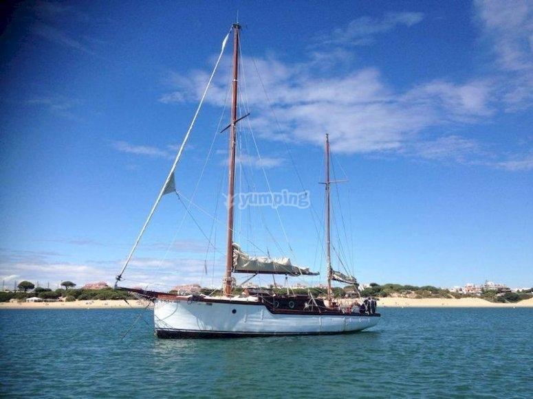 Pasea en barco por la costa de El Rompido