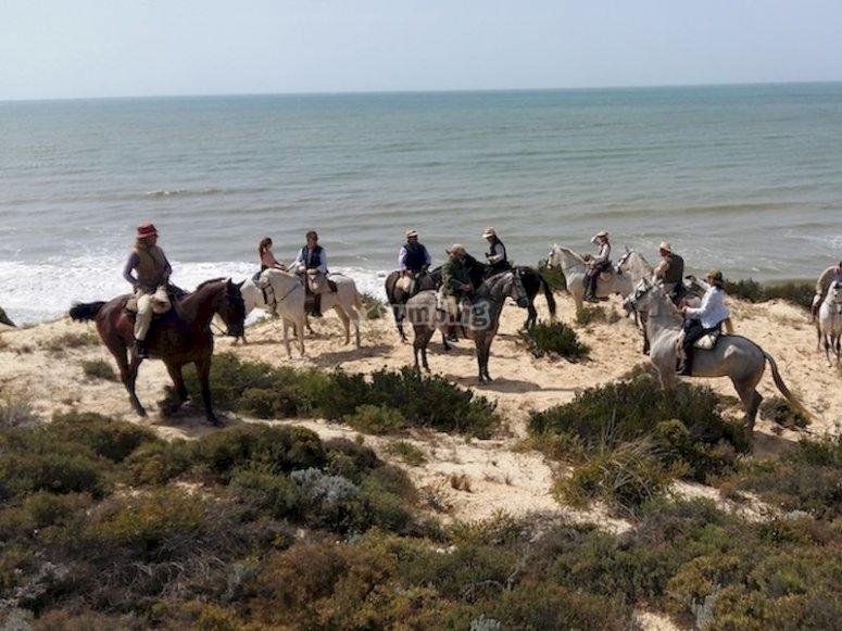 Monta a caballo por las dunas, playa y parque de Doñana:Prueba el paddle surf en Islantilla