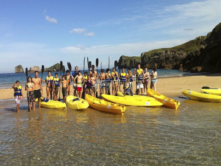 Salida en kayak por Llanes