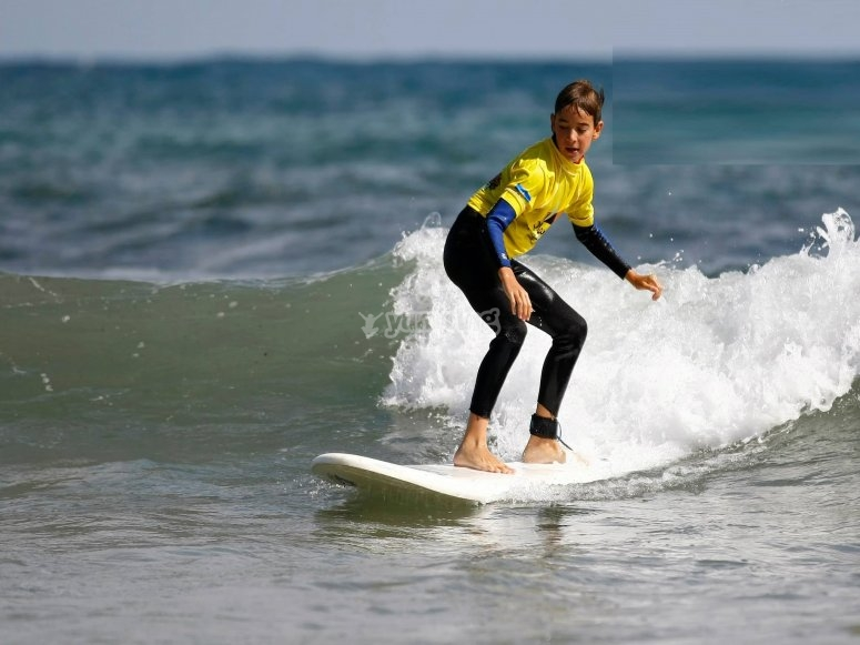 Surfing session in Llanes