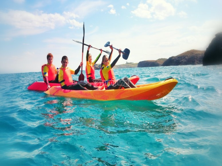 Kayak trip and paddle surfing in Llanes