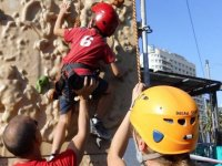Attending the young climber