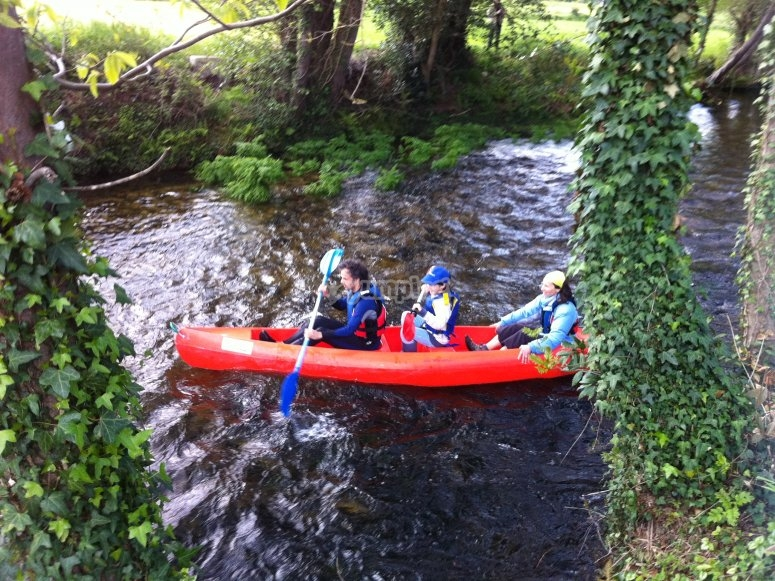 In canoe