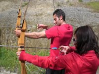 Challenge your partner in Archery