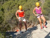 Rappel in the Ardales Park Adventure Center