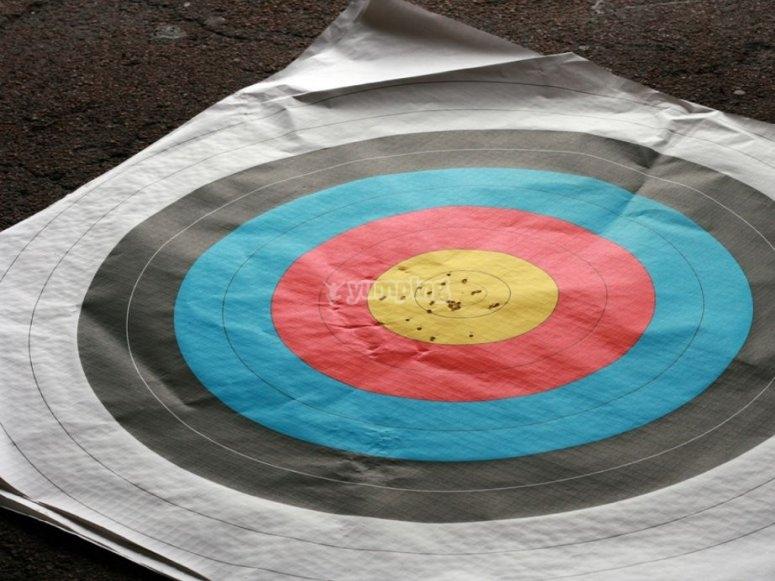 Bullseye after shooting