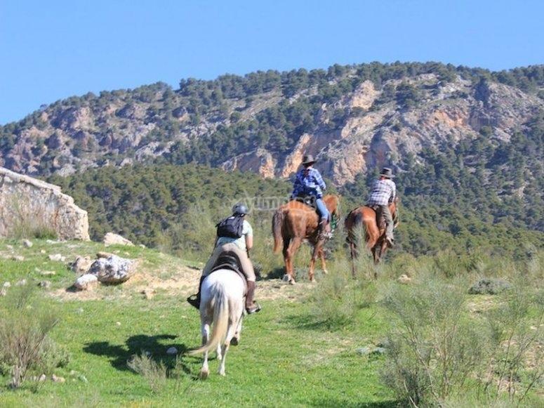 Ruta a caballo por el río Guadalentín