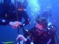 Comprobando el tiempo de inmersion