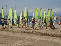 Practicando en la arena