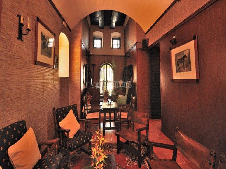 Interior del hotel San Valentin