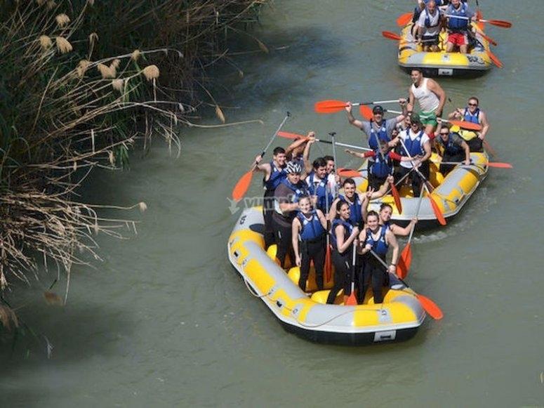 Rafting por el río Segura