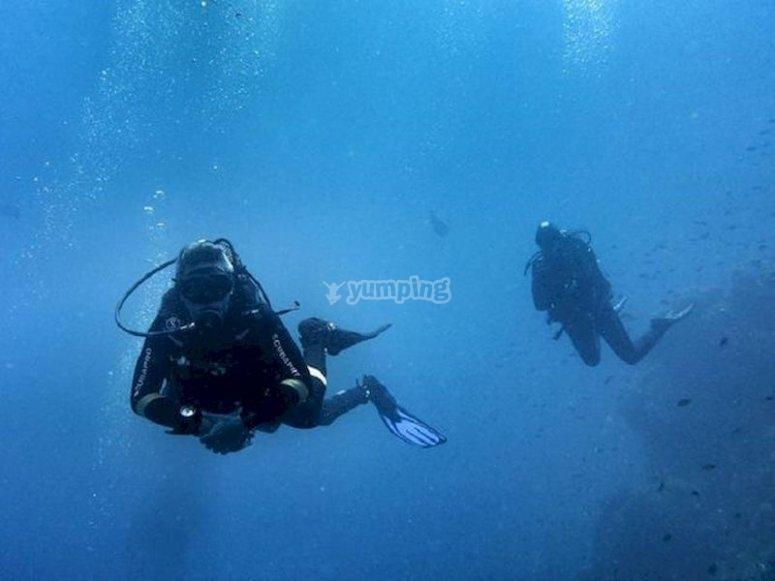 Buceo en el Mar Menor