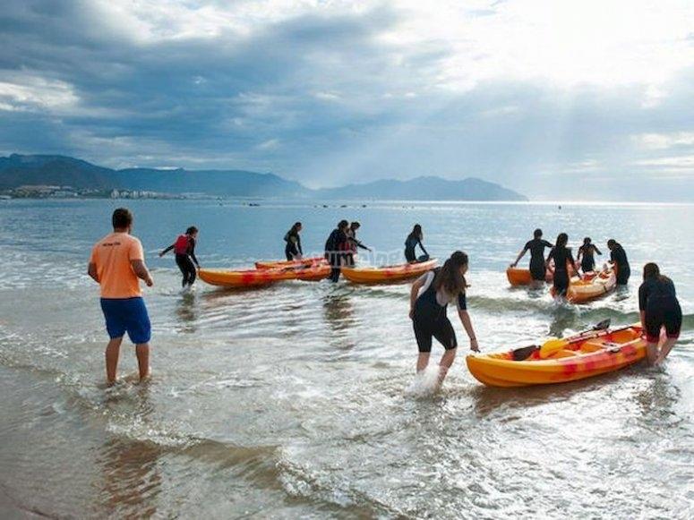 Ruta en Kayak por la bahía de Mazarrón