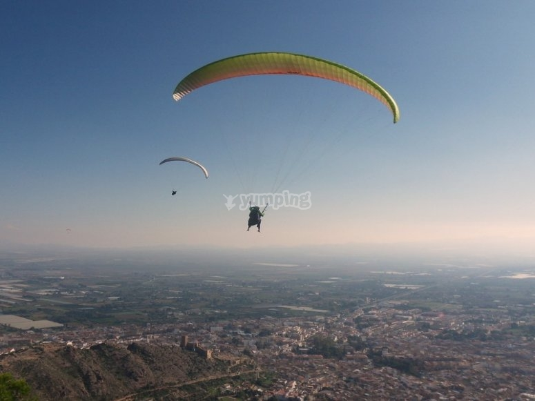 Paragliding flight with another person