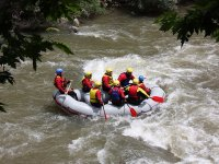 Rafting in whitewater