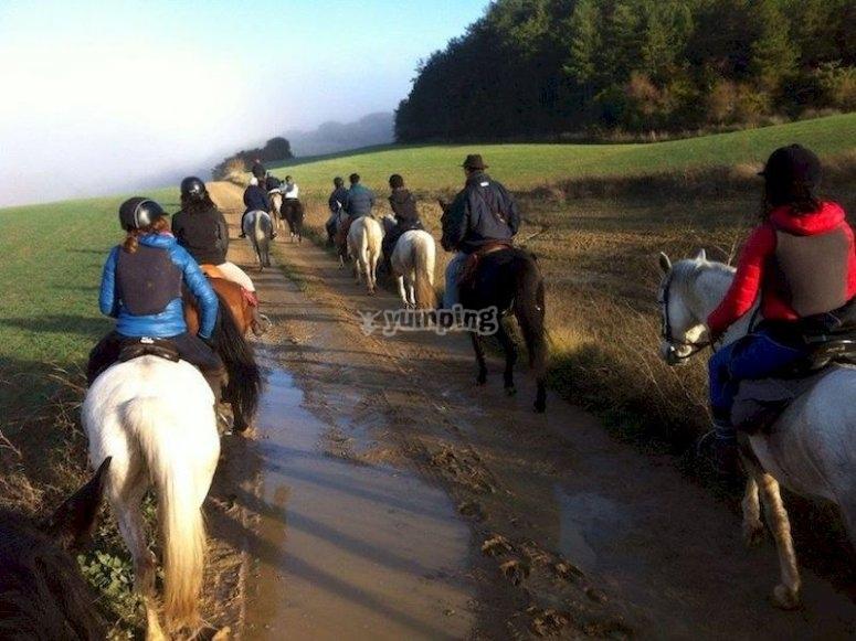 Ruta a caballo en Arbayún